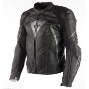 AVRO D1 LEATHER JACKET 685 BLACK/BLACK