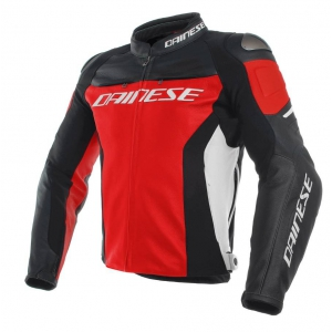 RACING 3 LEATHER JACKET 751 RED/BLACK/W