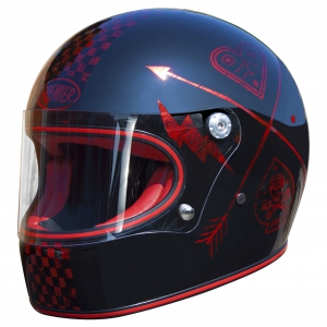 TROPHY HELM NX RED CHROMED logo