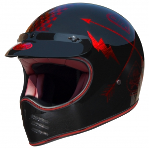 TROPHY MX HELM NX RED CHROMED logo