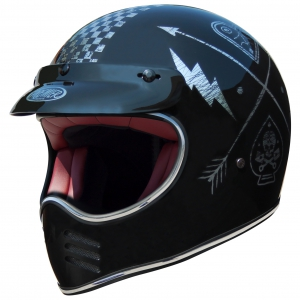 TROPHY MX HELM NX SILVER CHROM logo