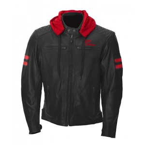 Jack JARI HOODED Black-Red logo