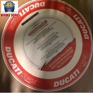 DUCATI RIM WRAP RED logo