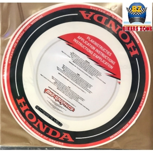 HONDA RIM WRAP BLACK-RED logo