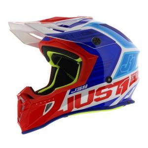 JUST1 Helmet J38 Blade Blue-Re logo