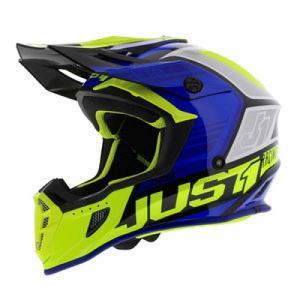 JUST1 Helmet J38 Blade Blue-Ye logo