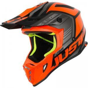 JUST1 Helmet J38 Blade Orange- logo