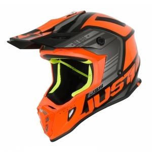 JUST1 Helmet J38 Blade Orange- logo