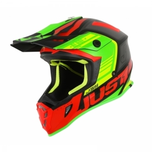 JUST1 Helmet J38 Blade Red-Lim logo