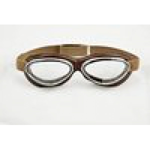 GOGGLE MASK LEATHER BROWN logo